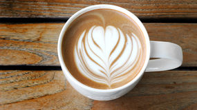 Lattee art coffee cup Stock Photos