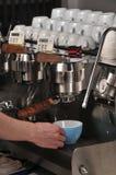 lattee maszyna Fotografia Royalty Free