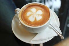 Lattekaffekonst Arkivfoto