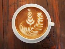 Lattekonstkaffe Rosetta Arkivfoton