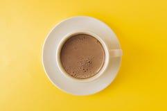 Lattekonstkaffe, slut upp Royaltyfri Foto