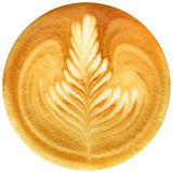 Lattekonstkaffe som isoleras i vit bakgrund Arkivfoto
