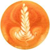 Lattekonstkaffe som isoleras i vit bakgrund Arkivfoton