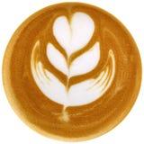 Lattekonstkaffe som isoleras i vit bakgrund Fotografering för Bildbyråer
