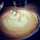 Lattekunst Stockbilder