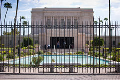Latter-day Saints Temple. Mormon Church of Jesus Christ of Latter-day Saints, Mesa Arizona Stock Image