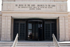 Latter-day Saints Temple. Mormon Church of Jesus Christ of Latter-day Saints, Mesa Arizona Royalty Free Stock Photo