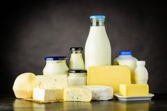 Latteria, formaggio e prodotti lattiero-caseari Fotografia Stock
