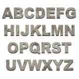 Latters van alfabet op grungetextuur Stock Foto's