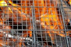 Lattice гриль над огнем Стоковые Изображения