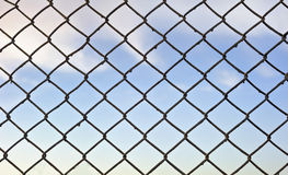 Lattice. With sky on background Stock Images
