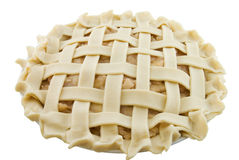 Lattice Apple Pie. Not yet baked isolated on white Stock Photography