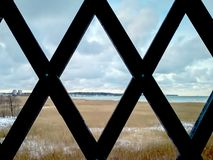 lattice aviv παράκτιος χειμώνας θάλασσας τηλ στοκ εικόνα με δικαίωμα ελεύθερης χρήσης