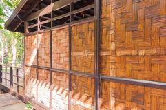 Lattice bamboo wall Royalty Free Stock Photography