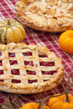 Lattice Cherry Pie and Apple Pie Royalty Free Stock Images
