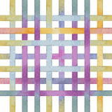 Lattice of colored lines, watercolor Stock Photography