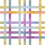 Lattice of colored lines, watercolor Stock Images