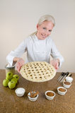 Lattice Crust Apple Pie Stock Image