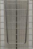 Lattice fence gas heater system stock photos