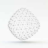 Lattice Geometric Polygonal Element. Connection Structure. Royalty Free Stock Images