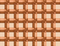 Lattice of interwoven wooden bars Stock Image