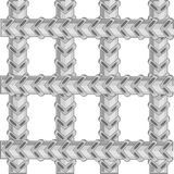 Lattice from metallic twig of armature.Vector illustration. Lattice from metallic twig of armature on white background stock illustration