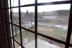 The lattice. The old rusty lattice. Closed and hopeless royalty free stock photography