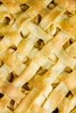 Lattice pastry apple pie top, cooked Royalty Free Stock Images