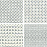 Lattice pattern set Royalty Free Stock Photography