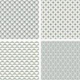 Lattice pattern set Royalty Free Stock Photography