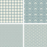 Lattice pattern set Royalty Free Stock Images