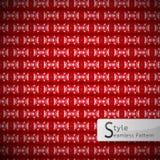 Lattice red bow ribbon geometric seamless pattern vector illustr Royalty Free Stock Image