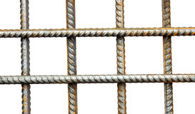 Lattice of reinforcing steel rods Royalty Free Stock Image