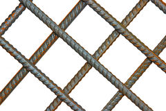 The lattice of reinforcing steel rods Royalty Free Stock Photo