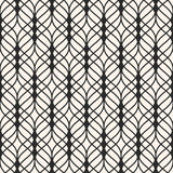 Lattice seamless pattern. Subtle background, wavy lines, mesh. Vector seamless pattern. Abstract luxury monochrome background with thin wavy lines, delicate stock illustration