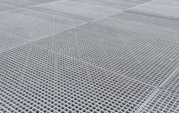 Lattice on the sidewalk. Street airing for the metro. Close-up Stock Photos