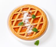 Lattice topped apricot crostata Royalty Free Stock Images