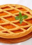 Lattice topped apricot crostata Stock Photo