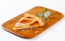 Lattice topped apricot tart Royalty Free Stock Photo