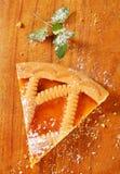 Lattice topped apricot tart Royalty Free Stock Photography
