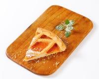 Lattice topped apricot tart Stock Images