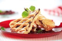 Lattice topped cake Stock Photos