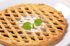 Lattice topped cake Stock Images
