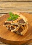 Lattice topped chocolate cream tart Royalty Free Stock Photography