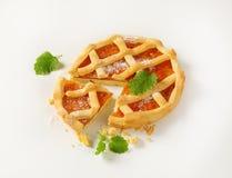 Lattice topped fruit tart crostata Royalty Free Stock Image