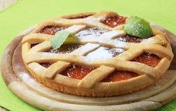 Lattice topped jelly tart Stock Photo