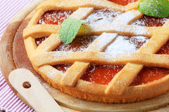 Lattice topped tart Royalty Free Stock Photos