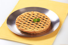 Lattice topped tart Royalty Free Stock Photography