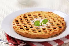 Lattice topped tart Royalty Free Stock Photo