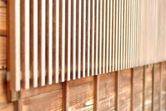 Lattice window in Japanese style, closeup Royalty Free Stock Photos